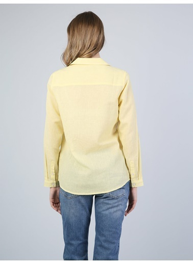 Colin's Uzun Kollu Gömlek Sarı